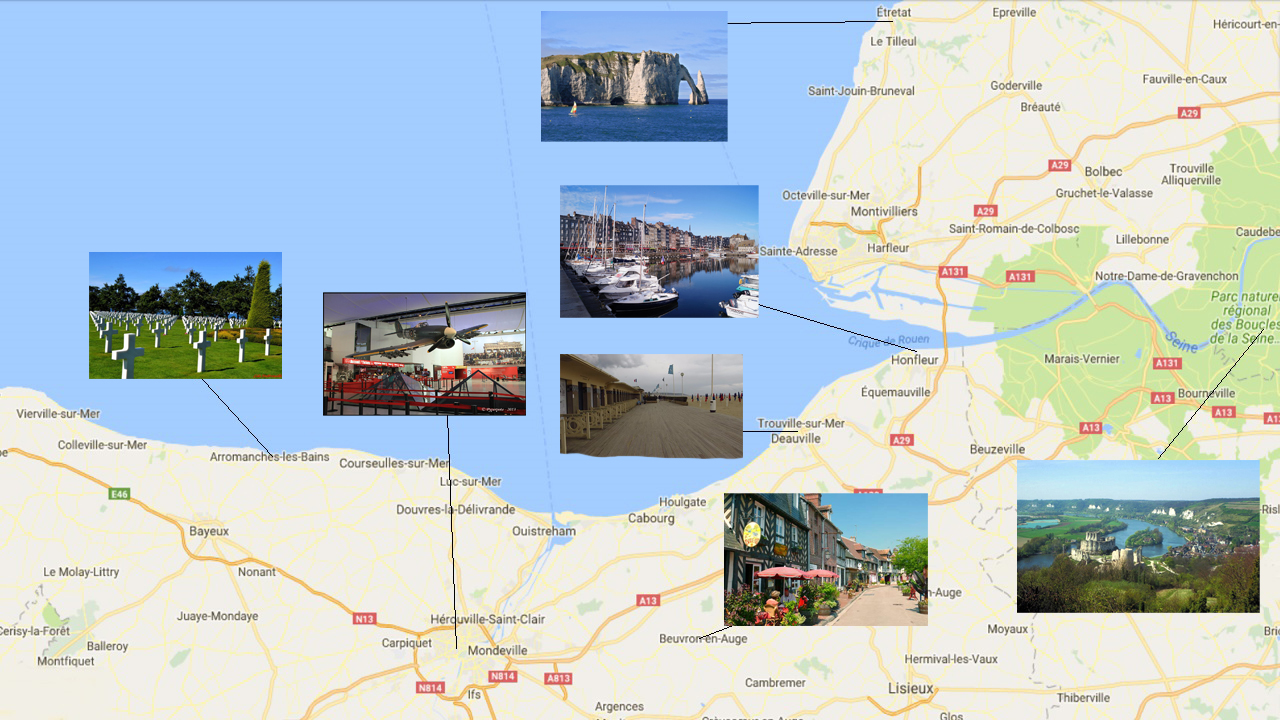 Carte touristique de Normandie